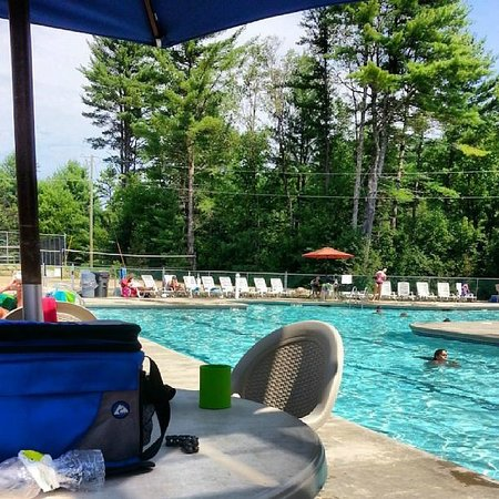 Danforth Bay Camping & RV Resort: Quiet time poolside
