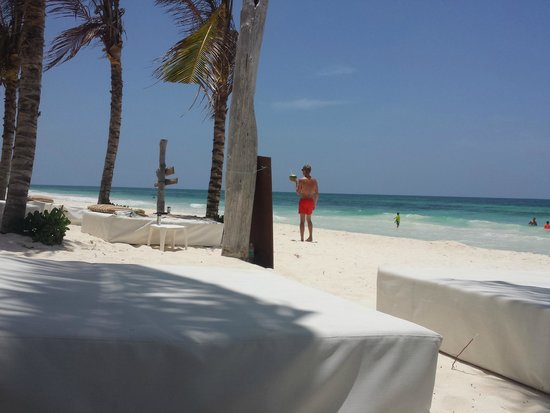 Cabanas Tulum : Beach beds at Ziggy