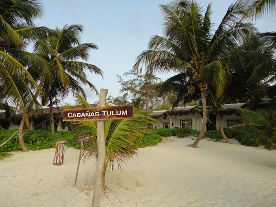 Hotel Cabanas Tulum : Beach view of cabanas