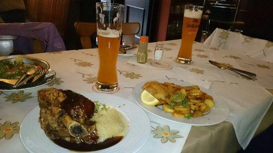 Baseler Eck: Roasted hock, snitzel and unfiltered beer (heffe weiss bier)