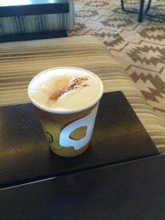 Secrets The Vine Cancun : Latte at coffee bar