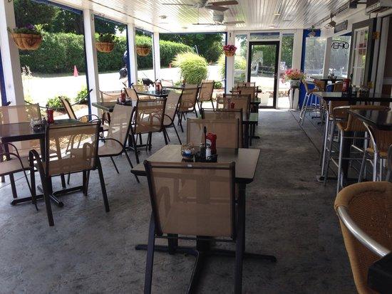 Oceans: Outside patio at Ocean 235
