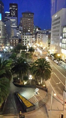 The Westin St. Francis San Francisco on Union Square: Night view from our room