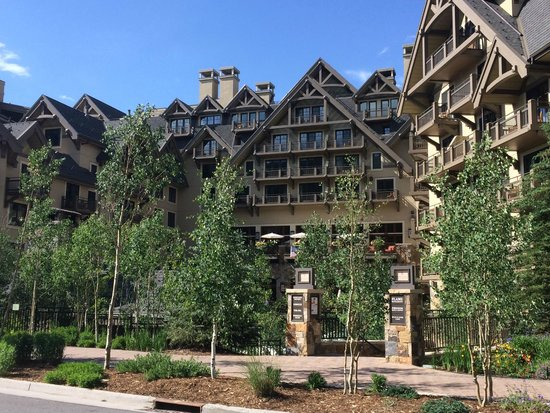 Four Seasons Resort and Residences Vail: From the back of the hotel