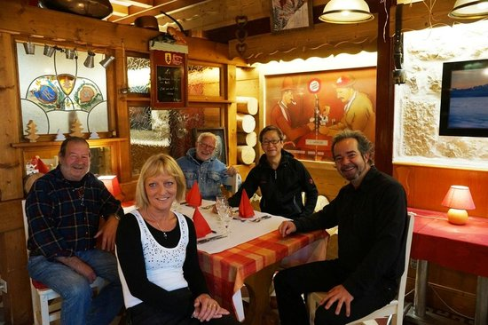Hotel Arbez Franco-Suisse: Owner and guests from the community