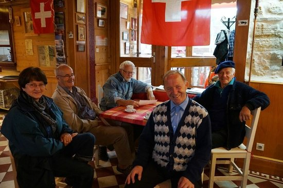 Hotel Arbez Franco-Suisse: Regular guests from local community