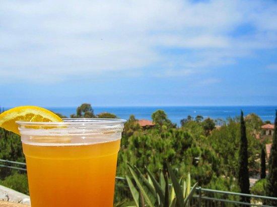 Marriott's Newport Coast Villas: Having a beer at the pool bar overlooking the Pacific Ocean.