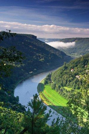 Bohemian Switzerland National Park: Elbe canyon