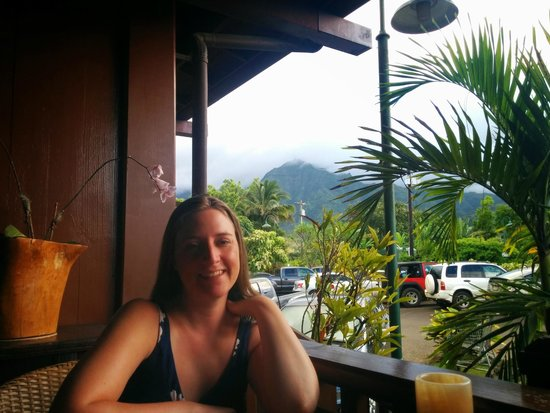 Bar Acuda : There is a limited view, but it's a view.