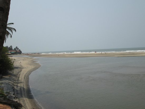 View of Mandrem Beach from the road