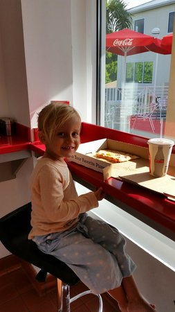 Ginos Pizzeria: She loves Ginos!