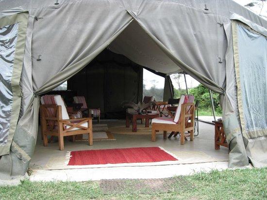 Ol Pejeta Bush Camp, Asilia Africa : Cocktails and Conversation Tent