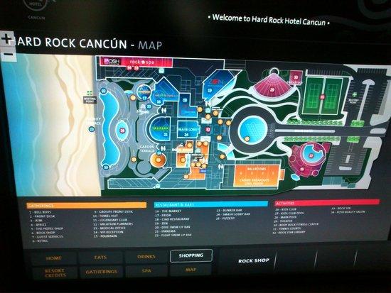 Hard Rock Hotel Cancun: Mapa do hotel
