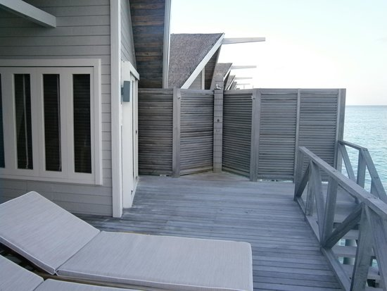 LUX* South Ari Atoll: deck of water villa