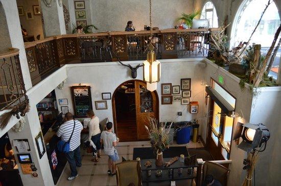 هوستلينج إنترناشونال سان فرانسيسكو سيتي سنتر: Foto tomada desde arriba a la recepción del Hostel