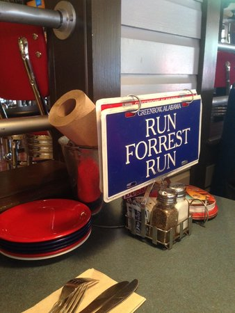 Bubba Gump Shrimp Co: Great idea for the table, if you need somebody to stop. by.