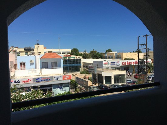 Malia Holidays : View out of our room looking onto the strip