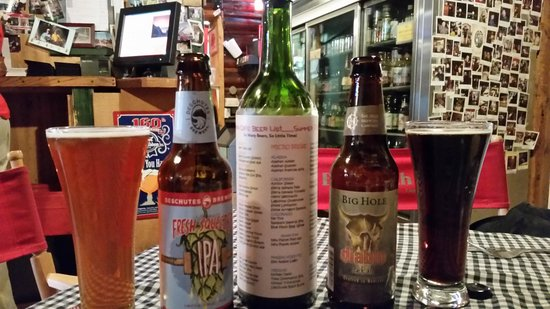 Beartooth Cafe : beer selections
