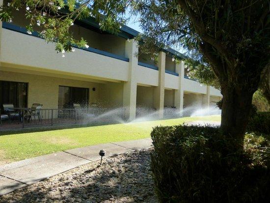 Days Inn & Suites Scottsdale North : Fußweg zwischen Hotelgebäuden