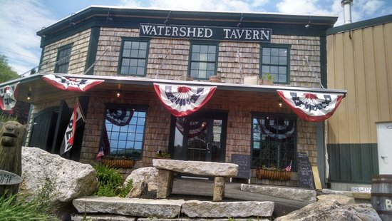 The Watershed Tavern at the Boothbay Craft Brewery & RV: The outside.