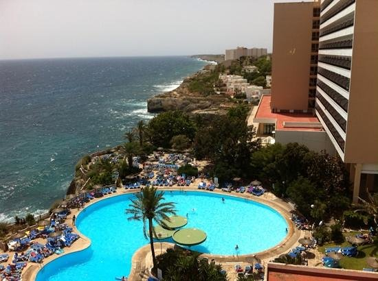 Complejo Calas de Mallorca: view from room 622 ... fantastic !!