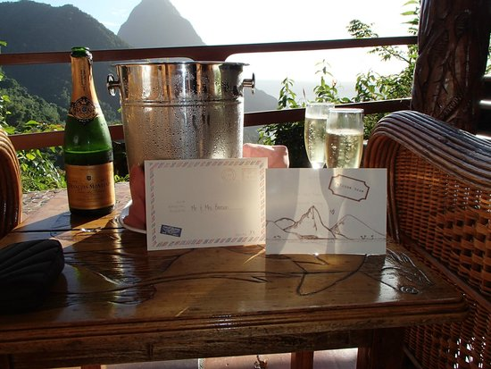 Ladera Resort: Perfect welcome gift. What a great way to start our lives together.