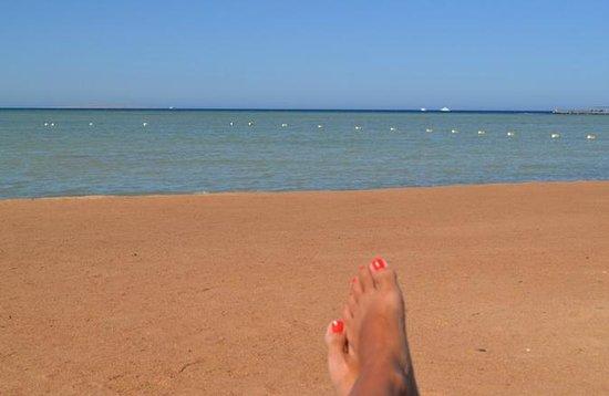 Jaz Aquamarine Resort : morze o godzinie 17.00