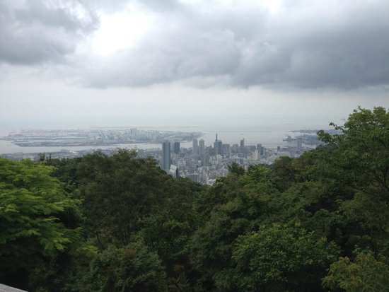 Kobe Nunobiki Herb Garden: view over Kobe from the top
