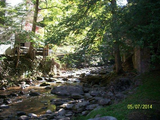 Zoders Inn & Suites: creek area