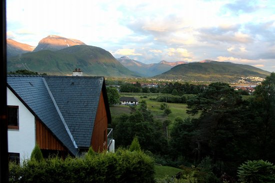 Treetops: The view of Ben Nevis and Fort William/Glen Nevis from the window