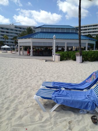 Melia Nassau Beach - All Inclusive: View from beach looking back