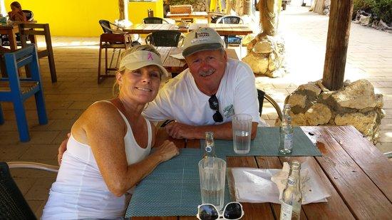 Reef and Beef Aruba: Having fun at the Reef & Beef Restaurant - Aruba