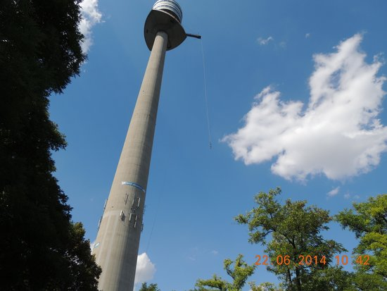 Donauturm: Donauturn vista de baixo