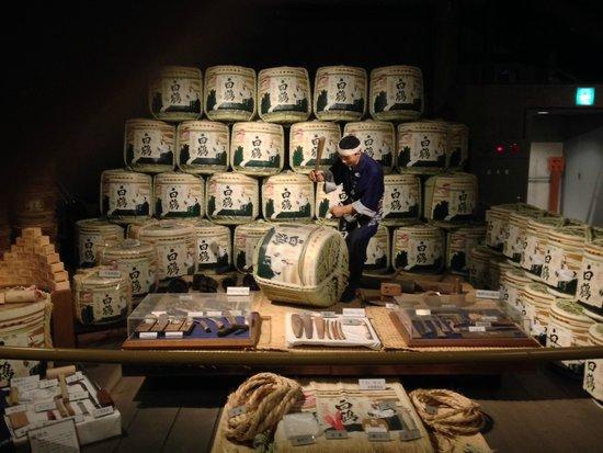 Hakutsuru Sake Brauereimuseum: part of the exhibition