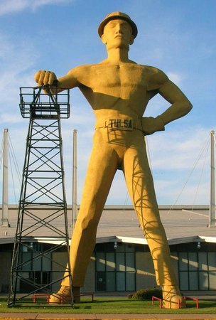 The Golden Driller. Third and currently standing version.