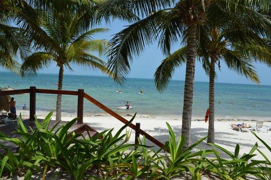 Villa del Palmar Cancun Beach Resort & Spa: view of beach from pool