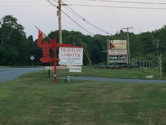 Travelin Lobster: signage