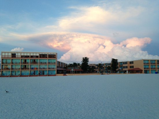 Dolphin Beach resort from the Beach