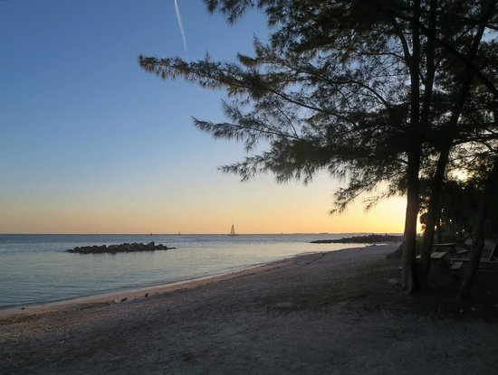 Fort Zachary Taylor Historic State Park : At sunset from the main beach ...