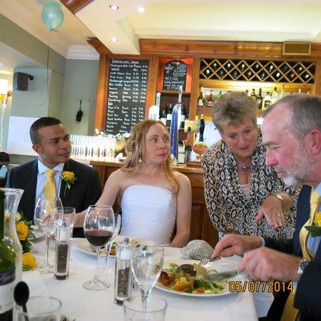Greens Restaurant & Bar: Happy Couple!