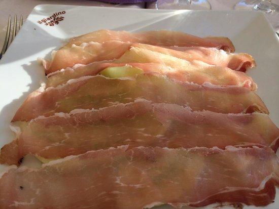 restaurante Il Giardino: Lækker tørret mager skinke med melon