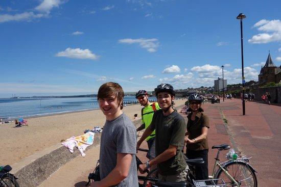Edinburgh Bike Tours: A bit of beach