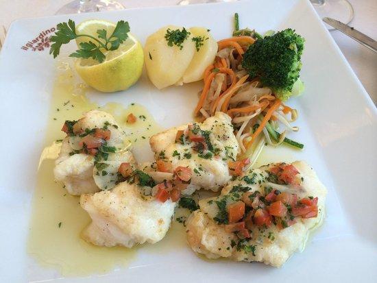 restaurante Il Giardino: Smørstegt fisk. Saftig, lækker og kunne ikke tilberedes bedre. Mums!