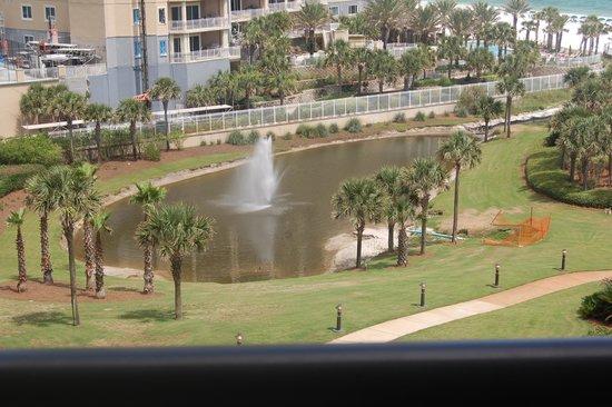 Edgewater Beach Condominium : The pond in front of The Edgewater