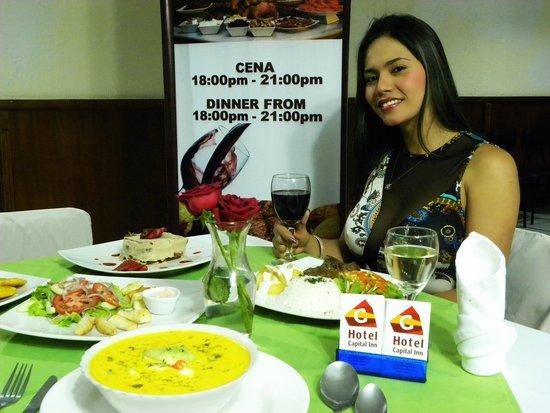 Hotel Capital Inn: Dinner at Palmyra Restaurante