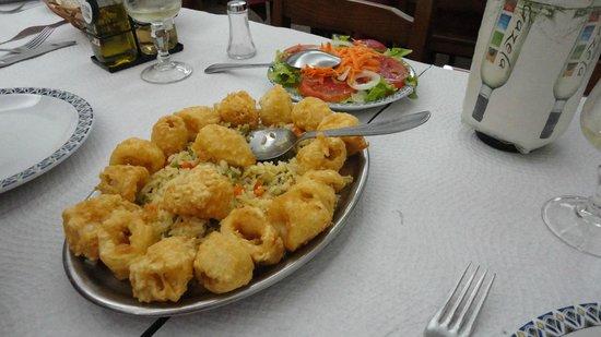 Restaurante Principe Do Calhariz : Nossa refeição - Anéis de Lula