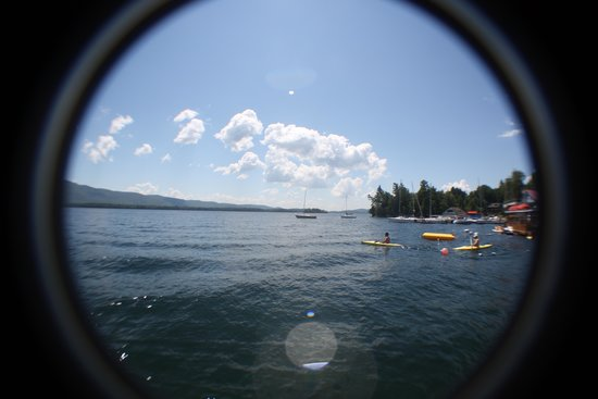Flamingo Resort on Lake George: Fish Eye View.