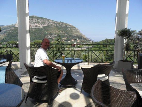 Grand Hotel Nastro Azzurro & Occhio Marino Resort: Main terrace with great views.