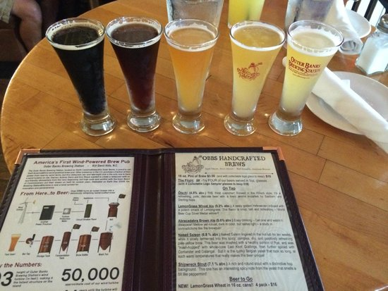 Outer Banks Brewing Station: Tasting flight