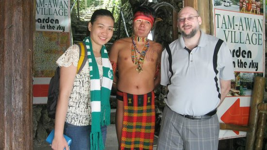 Tam-Awan Village: me, emie, and a native